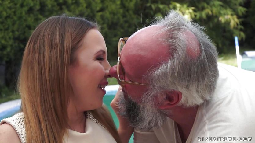 Beautiful girl getting fucked by a granddad
