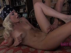 Sexy Chloe Foster spreads her legs and ram his cock
