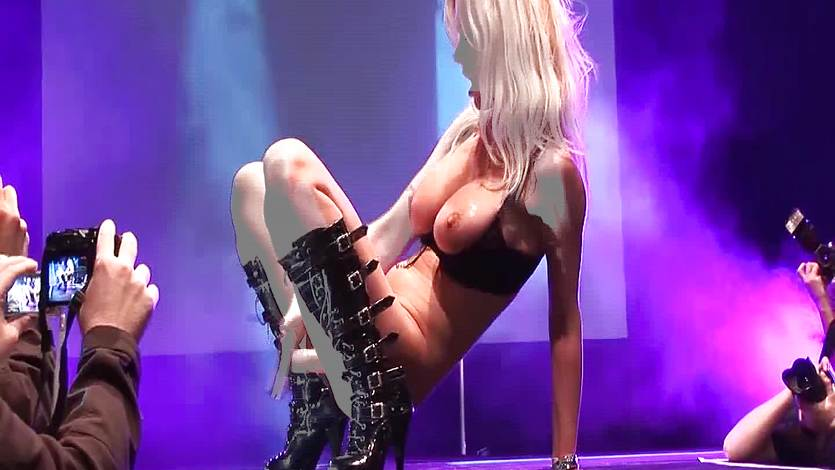 Check out beautiful stage work from stripper