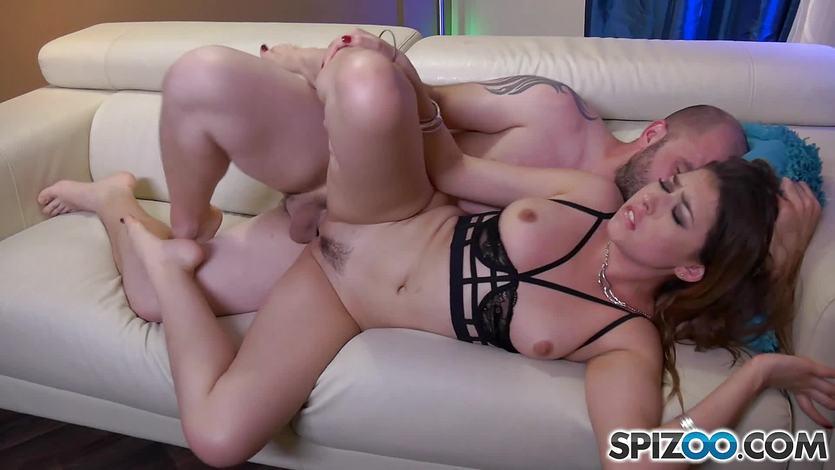 Dick slurping Melissa Moore pussy thrashed deep