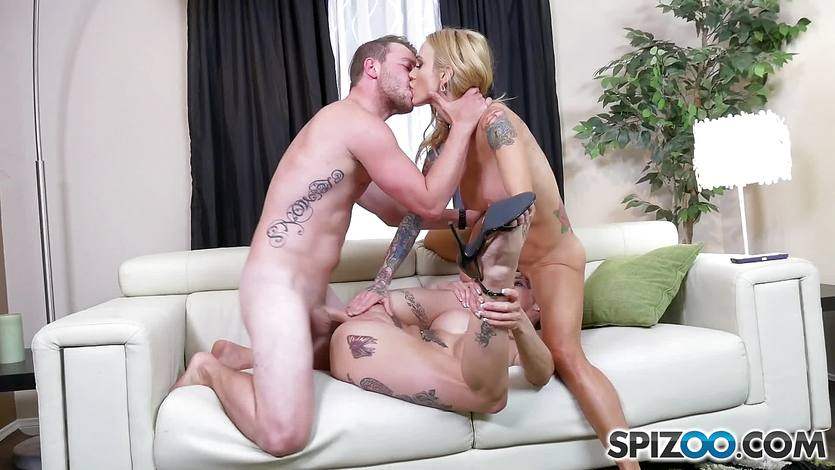 Cute pussy crammed Sarah Jessie and Anna Bell Peaks
