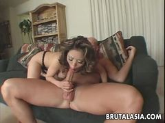 Cock gobbling asian babe