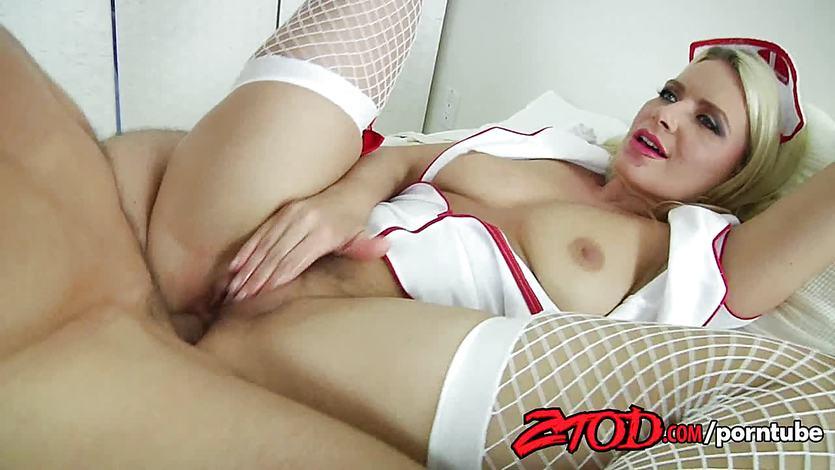 Hot Nurse Anikka Albrite Sucks Cock