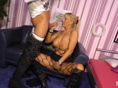 SexTapeGermany German sex tape with MILF blonde
