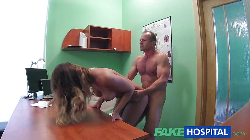 German Blonde Fake Tits