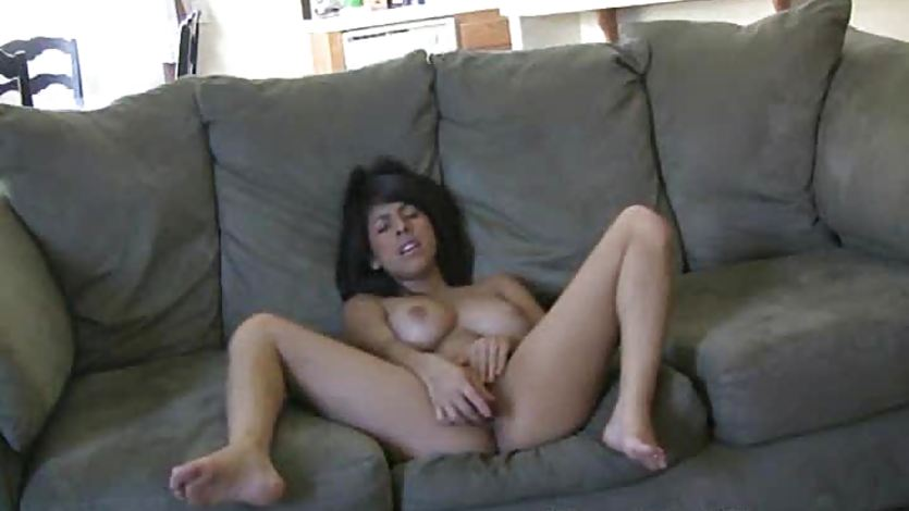 Sensual Layla Rose plays with her warm pussy