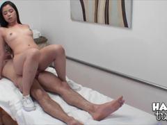 Drea Diamond blows off a lucky man at the massage parlour
