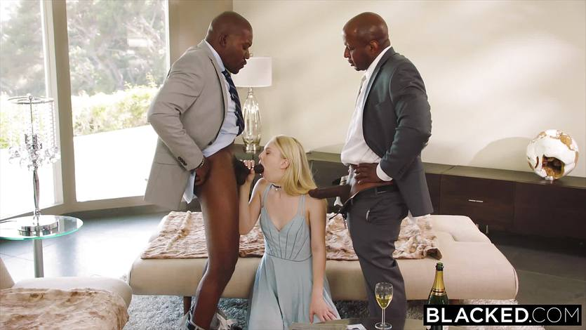 Submissive black man