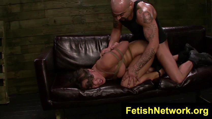 Bound Mena Li rope bondage sex