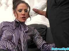 Submisive babe Anita throated