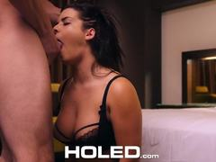 Lubing up the ass of Keisha Grey
