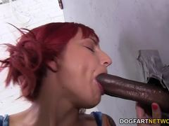Phoenix Askani sucking cock at gloryhole