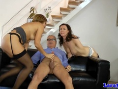 Dick sucking hot and horny trio