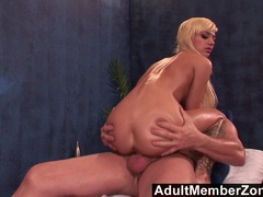Blonde Emma Mae gets her pussy drilled