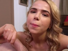 Blonde Alina West devours this hard cock