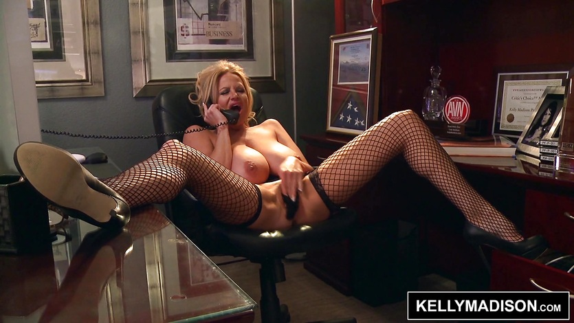Kelly Madison talking sexy on the phone
