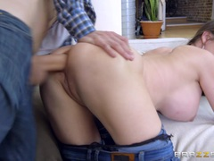 Cathy Heaven riding on Danny Ds big shaft