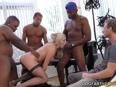 Summer Day fucked in gangbang
