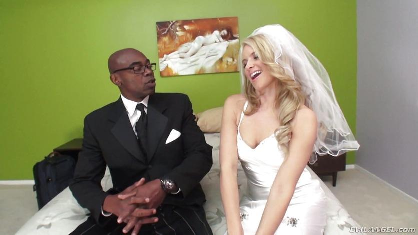 Hot black cock blowing newlywed Anikka Albrite