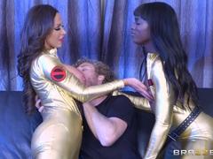 Threesome fun with Monique Alexander and Romi Rain