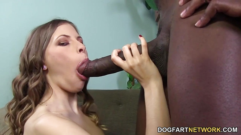 Babe Avril Sun takes on this huge dick