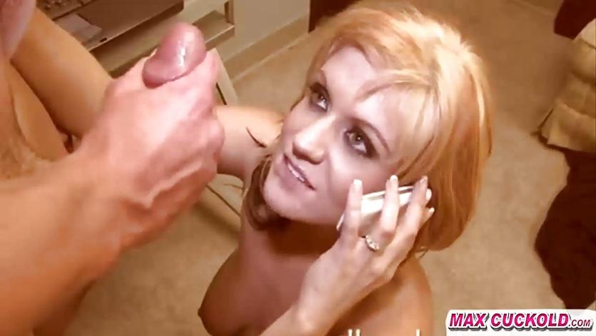 maxcuckold.com Blonde Talk on Phone