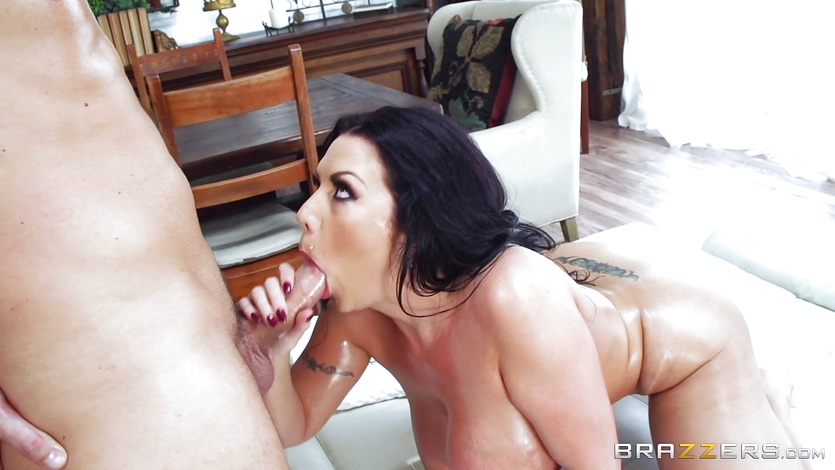 Huge cock slides deep into Sheridan Love
