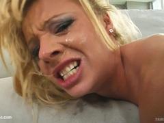 Tina in hardcore spank scene from Tamed Teens