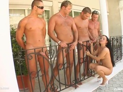 Messy group cumshots for Cynthia Black on Cum For Cover