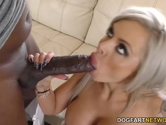 Milf Nina Elle swallows this huge dick
