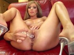 Naked dildo masturbation with pretty Britney