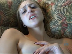 Cumming hard on Rococo Royalle's pretty face