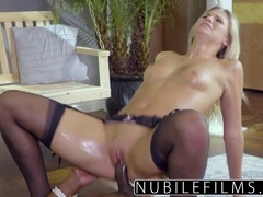Gorgeous Scarlet Red takes on this huge cock