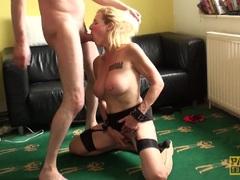 Stunning British sub milf bouncing ontop maledoms cock