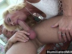 HumiliatedMilfs Horny milf enjoys a toyboy dick