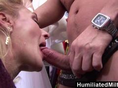 HumiliatedMilfs Lascivious milf gets her holes serviced