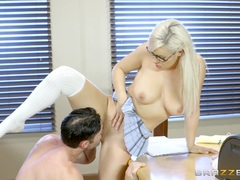 Kylie Page fucked across the teachers desk