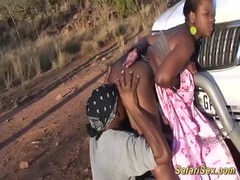 Safari sex with chubby African girl