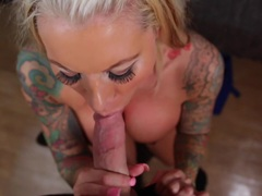 Lolly Ink takes a huge cock deep
