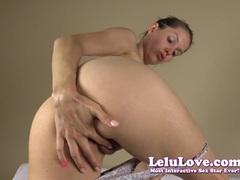 Brunette Lelu Love masturbating and spreading her pussy