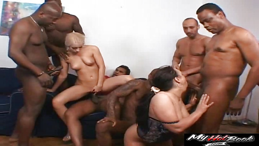 Manuela and Valentina Rossi are always craving for dark meat and love black guys fuck them