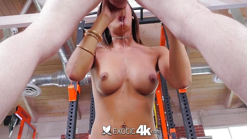 Hot Latina Chloe Amour fucks big cock in the gym