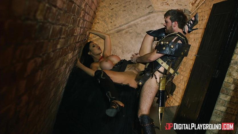 Hot warrior Jasmine Jae banged in ass by a gladiator