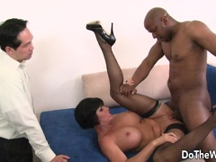 Wife Shay Fox takes large black cock