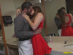 Horny waiter sticks his cock into Dani Daniels