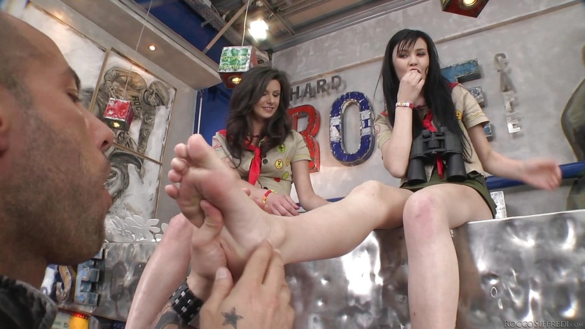 Cock drilling threesome with Lucianna Karel