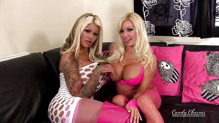 Big Boobed Blonde Candy Meets British Porn Star Milf Michelle Thorne