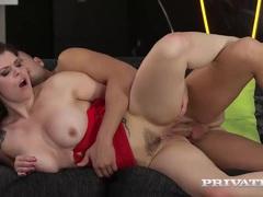 Redhead babe Lucia Love gets anal