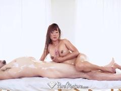 PUREMATURE Massage fuck with sexy MILF Tiffany Rain