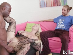 Blonde Wife black dick creampie loving